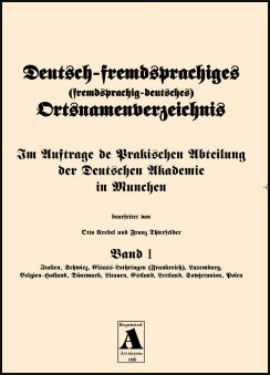 German Name-Change Gazetteer - (Deutsch-fremdsprachiges ...